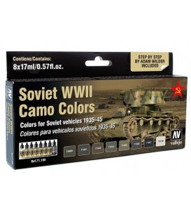 Set Vallejo Model Air 8 u. (17 ml.) Soviet WWII Camo Colors