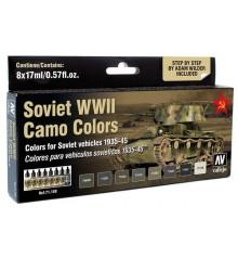 Set Vallejo Model Air 8 u. (17 ml.) Soviet WWII Camo Colors