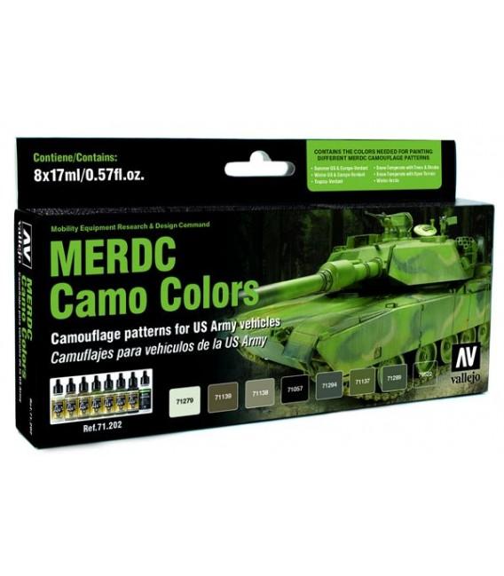 Set Vallejo Model Air 8 u. (17 ml.) MERDC Camo Colors
