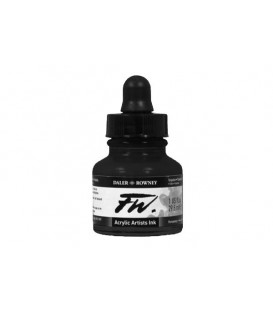 028 Black FW Artists Acrylic Ink Daler Rowney 29.5 ml.