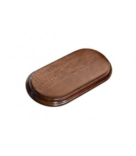 21.5x11 cm. Rectangular Oval Wood Bases