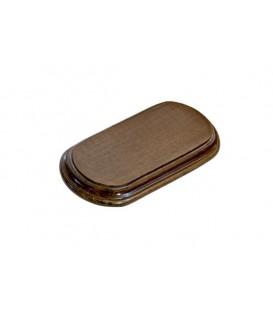 16x8,5cm. Rectangular Oval Wood Bases