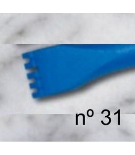 b) Gradim dente plano para escultura de 14 mm. 5 d.