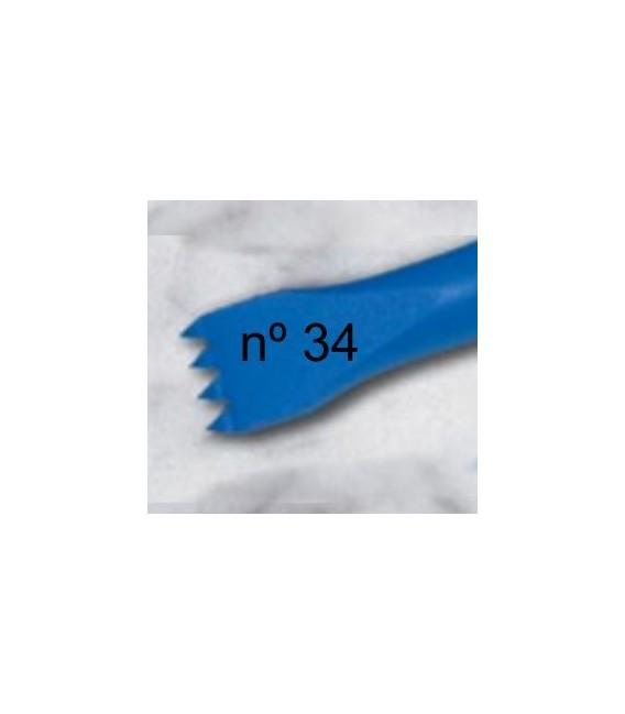 b) Gardina dent americana per a escultura de 15 mm. 4 d.