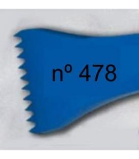 d) Gradina diente americano para escultura de 40 mm. 10 d.