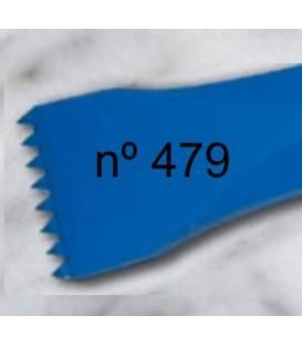 e) Gradim dente americano para escultura de 30 mm. 8 d.