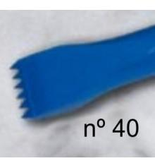e) Acute teeth chisel 12 mm. 6 t.
