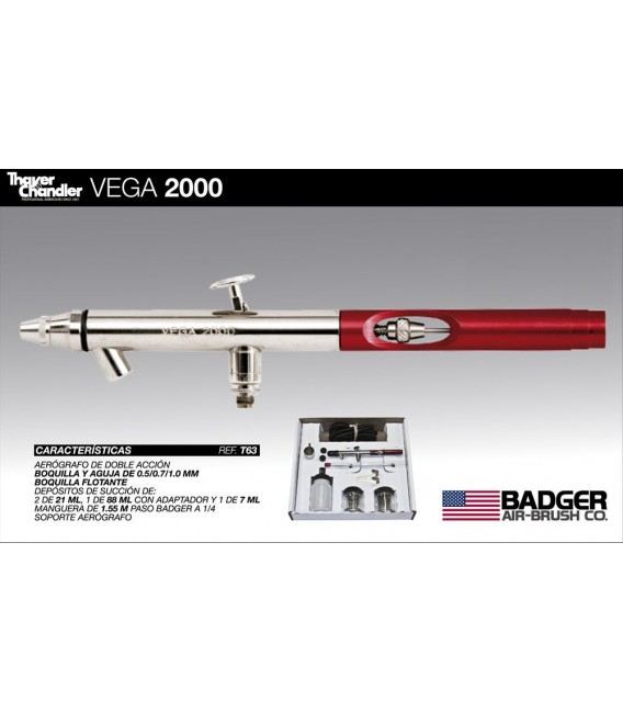 Kit aerographe Thayer & Chandler VEGA 2000 (0.5-0.7-1.0)