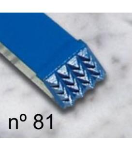 b) Martillina basta para escultura 12x12 mm. 4x4 d.
