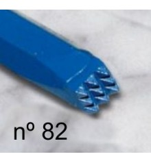 c) Carbide bush chisel 8x8 mm. 3x3 t.