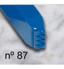 c) Carbide bush chisel smooth 8x4 mm. 4x2 t.