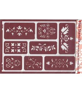 301004 Plantilles flexibles - Flex Stencils 15 x 21