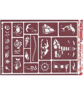 301008 Plantillas flexibles - Flex Stencils 15 x 21