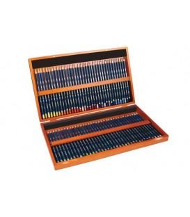 Caixa madeira 72 lapis Aquarelavel Derwent