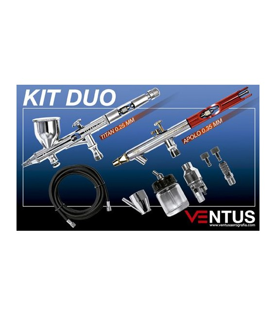 f) Kit 2 airbrushes VENTUS DUO