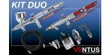 f) Kit 2 aerographes VENTUS DUO