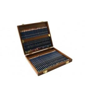 Caixa madeira 48 lapis Aquarelavel Derwent