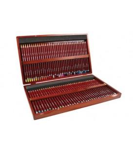 Caixa fusta 72 llapis Pastel Derwent