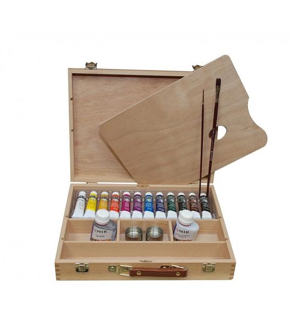 Acrylic paint color wood set Mir Academia n. 4 VII 12 tub