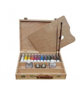 Caixa fusta pintura acrilica Mir Academia n. 4 VII 12 tub