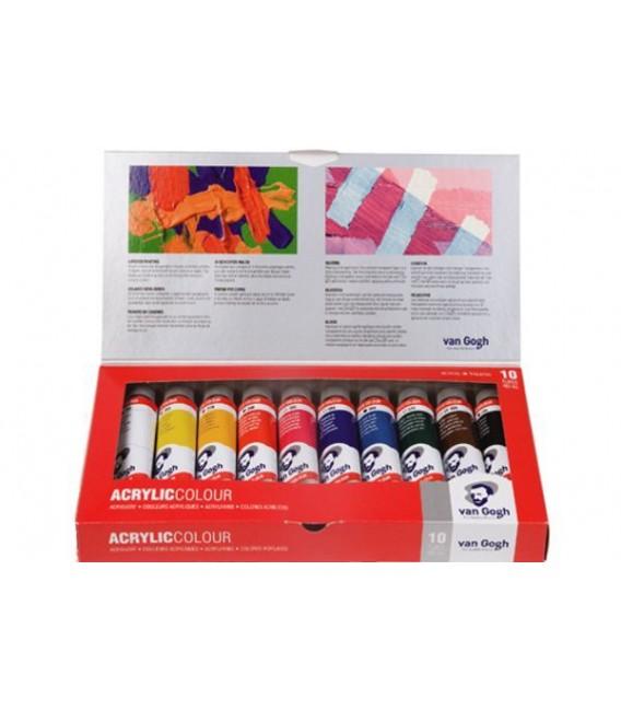 Set pintura acrilica Van Gogh Basic 10 tubs