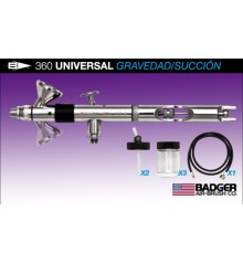 c) Aerografo Badger UNIVERSAL 360º 0.55