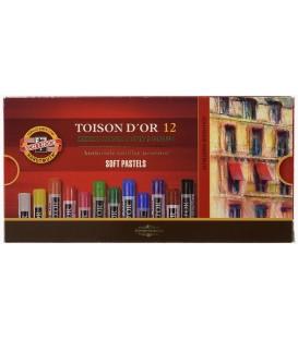 01) 12 Soft pastels cardboard box Toison d'Or Koh-I-Noor 8512