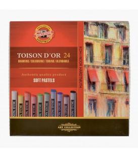 02) Estuche carton 24 Pasteles Secos Toison d'Or Koh-I-Noor 8514