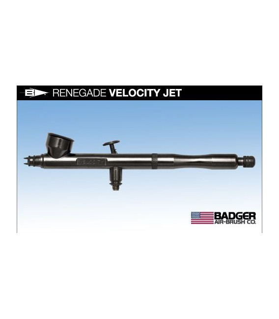 e) Aerographe Badger RENEGADE VELOCITY JET 0.21
