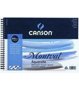 04) Album Papel Acuarela Montval 12h 300gr Grano Fino 13,5x21