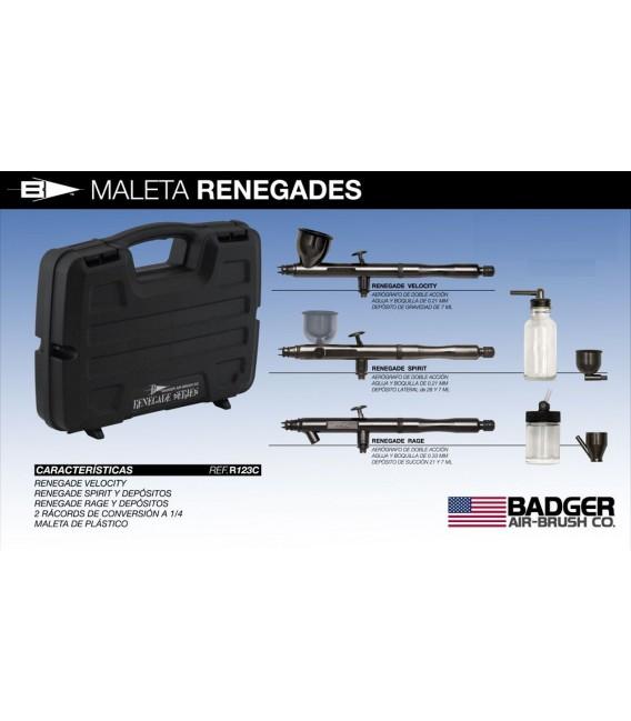 h) Kit 3 aerografos Badger RENEGADE