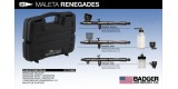 h) Badger RENEGADE kit 3 airbrushes