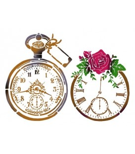 Plantilles - Stencils 21x29,7 Vintage watches KSG378