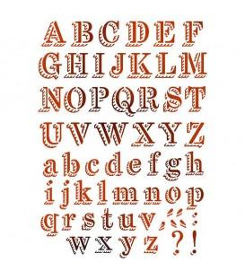 Stencils 21x29,7 Chalk alphabet KSG380