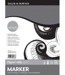 06) Bloc Daler Rowney Simply Paper 40s 70g A4 21x29,7