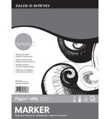 06) Bloc Paper Daler Rowney Simply 40f 70g A4 21x29,7