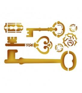Plantilles - Stencils 15x20 Keys and lock KSD275