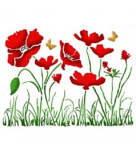 Plantilles - Stencils 15x20 Poppies KSD269