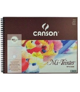 03) Album Papel Canson Mi-Teintes Blanco 16h 160g 24x32 cm