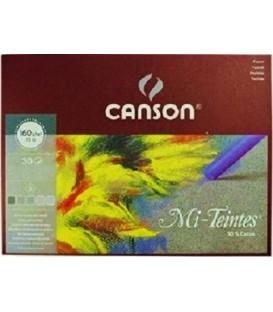 08) Bloc Papel Canson Mi-Teintes Grises 30h 160g 32X41 cm