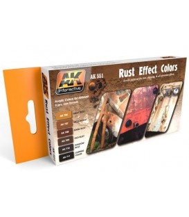 AK551 Rust Effect Colors Set 6 u. 17 ml.