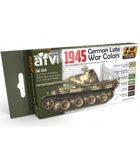 AK554 1945 German Late War Colors Set 6 u. 17 ml.