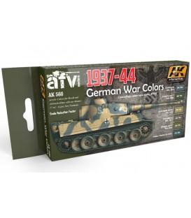AK560 German War Colors 1937-1944 Set 6 u. 17 ml.