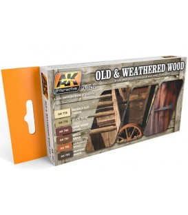 AK562 Old and weathered Wood Vol.1 6 u. 17 ml.