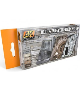 AK563 Old and weathered Wood Vol.2 6 u. 17 ml.