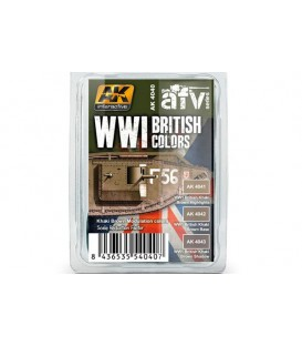 AK4040 WWI British Colors Set 3 u. 17 ml.