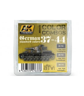 AK4172 German Standard 37-44 Color Combo 3 u. 17 ml.