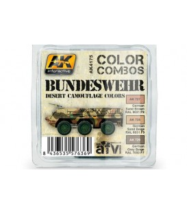 AK4175 Bundeswehr Desert Camouflage Colors 3 u. 17 ml.