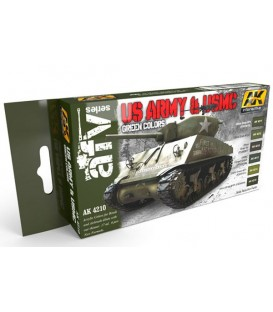 AK4210 US Army and USMC Green Colors 6 u. 17 ml.