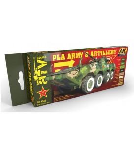 AK4240 PLA Army and artillery colors set 8 u. 17 ml.